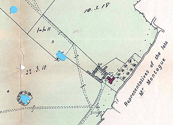 A map showing Aspley Hall Farmhouse in 1906 [BML10/1/13]
